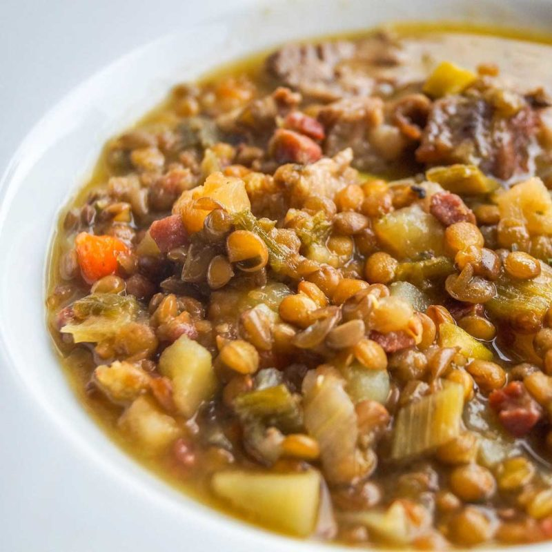 Healthy Fiber-Rich Yam and Lentil Curry Recipe