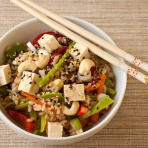 Gluten Free Asian Rice Bowl Salad