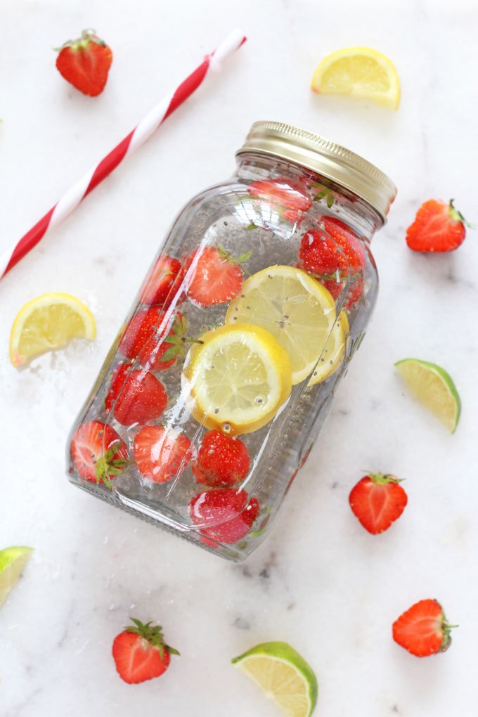 Healthy Chia Seed Recipes - Chia Fruit Water